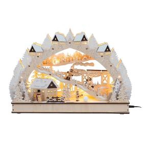 LED-Bogen Winterromantik, 34 x 7,5 x 30 cm