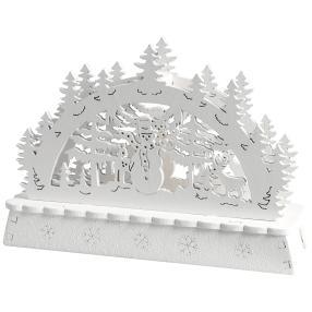 Mini-Lichterbogen weiß, 14 x 4 x 10 cm, 2er-Set