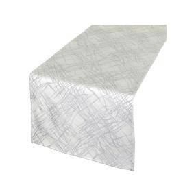 Tischläufer fleckabweisend, silber, 40 x 140 cm