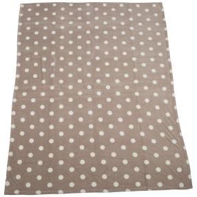 GÖZZE Kuscheldecke Punkte taupe, 150 x 200 cm