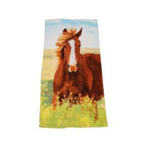 Badelaken Pferde, 75 x 150 cm