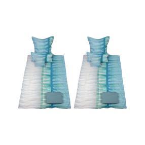 CoolSummer Bettwäsche Streifen blau-weiß 10-teilig