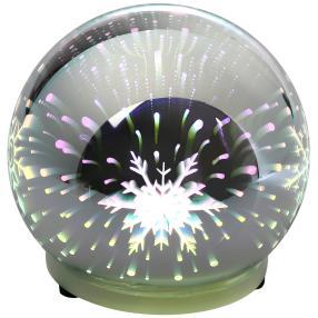 3D Effekt Glaskugel mit Weihnachtsmotiven, 10 cm