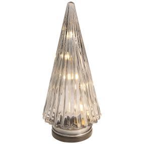 LED Glastanne silber L, 27 x 12 x 12 cm