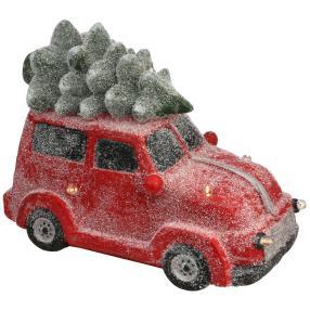 Weihnachtsauto mit LED und Musik, 33 x 43 x 24 cm