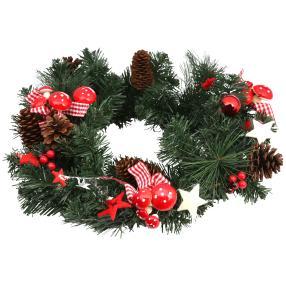 Weihnachtskranz, geschmückt, 40 cm
