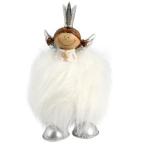 Wackelfigur Engel weiß, 14 x 8 cm