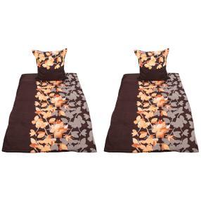 CoolSummer Bettwäsche, orange-schwarz, 4-teilig