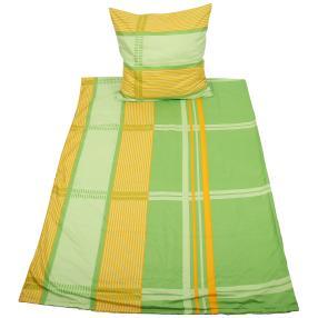 CoolSummer Bettwäsche, gelb-grün kariert, 2-teilig