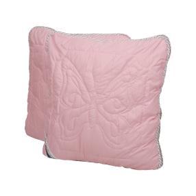 Stoffhanse Kissen rosé, 80 x 80 cm, 2er Set