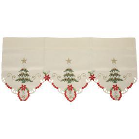 Bistrogardine Weihnachten, rot-gold, 45 x 90 cm