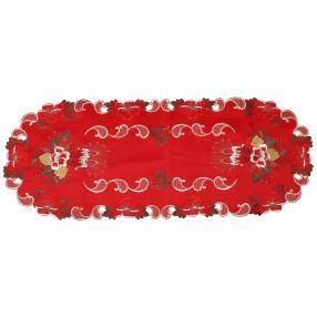 Tischläufer Weihnachten, rot-gold, 40 x 100 cm