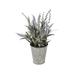 Lavendel im Zinktopf, 26cm