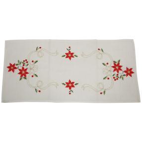 Tischläufer, roter Christstern, 40 x 90 cm