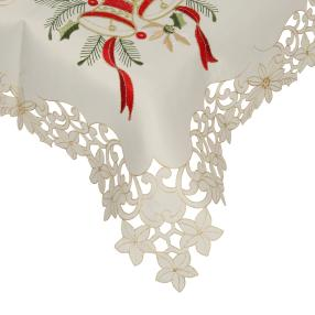 Mitteldecke Weihnachten, bestickt, 85 x 85 cm