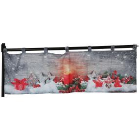 LED-Gardine Weihnachten, 40 x 120 cm