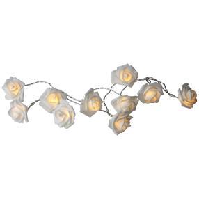 LED Lichterkette Rosen weiß, mit 10 LEDs