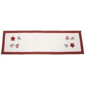 Tischläufer Weihnachten Herz, 40 x 140 cm