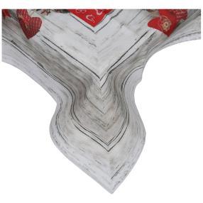 Mitteldecke Weihnachten Holzoptik, 85 x 85 cm