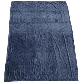 Kuscheldecke Mélangeoptik, blau, 150 x 200 cm