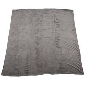 Superflauschdecke XXL, grau, 200 x 200 cm