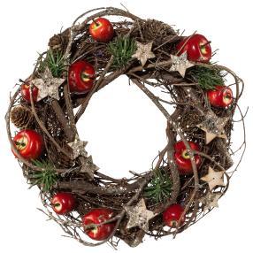 Naturdekokranz Weihnachten, 24 cm
