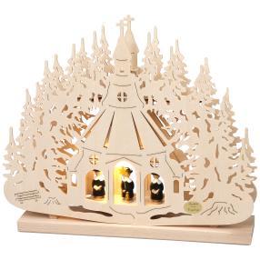 SAICO, Leuchter Seiffener Kirche, 32 x 26 x 4,5 cm