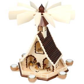 SAICO, Holzpyramide Waldleute, 17 x 40 cm