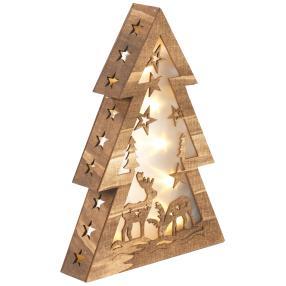 CHRISTmaxx LED-Holzdeko, 37 x 27 x 6 cm