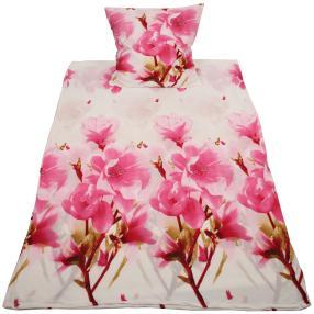 WinterDreams Bettwäsche, rosa Blumen, 2-teilig