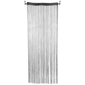 Fadenvorhang silbergrau, 90 x 250 cm