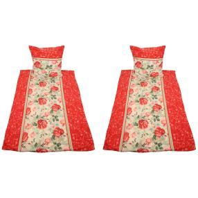 WinterDreams Bettwäsche, rote Rosen, 4-teilig