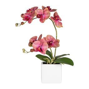 Orchidee Keramiktopf, dunkelrosa, 45 cm