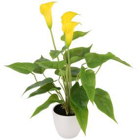 Kunstblume Calla gelb, ca. 40 cm