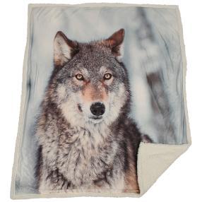 Sherpadecke Fotodruck Wolf, 130 x 160 cm