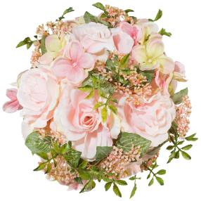 Rosenkugel, rosé, 18 cm