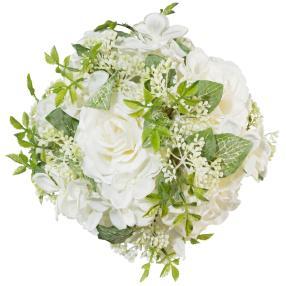 Rosenkugel, weiß, 18 cm