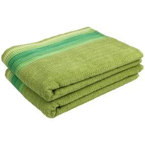 Duschtuch mit bestickter Bordüre, grün, 2er Set