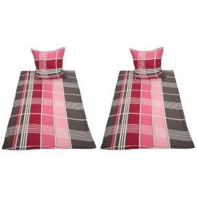 WinterDreams Bettwäsche, pink-lila-weiß, 4-teilig