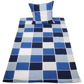WinterDreams Bettwäsche, blau-weiß Karo, 2-teilig