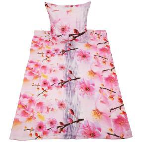 AllSeasons Bettwäsche, rosa Kirschblüten, 4-teilig