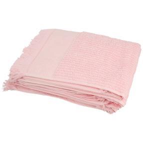 Handtuch mit Fransen, rosé, 50 x 100 cm, 4er-Set
