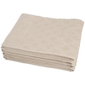 Handtuch, Rautenmuster beige, 50 x 100 cm, 4er-Set