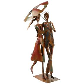 GILDE Metallskulptur, Rainy Walk, 65 cm
