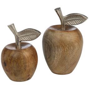 Mangoholzäpfel, 10 cm & 14 cm, 2er-Set