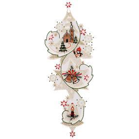 Fensterbild Plauener Spitze, Weihnachten