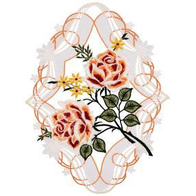 Fensterbild Plauener Spitze, Rosen