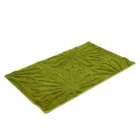 GÖZZE Badteppich Blume, grün, 50 x 70 cm