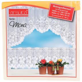 Gardinenset für Stangendurchzug, weiß, 2er-Set