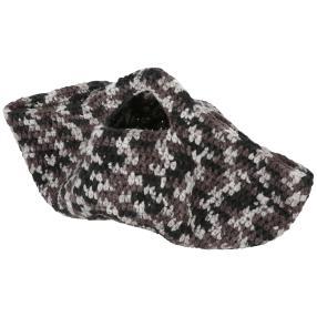 Wollkorb Häkelset schwarz-grau